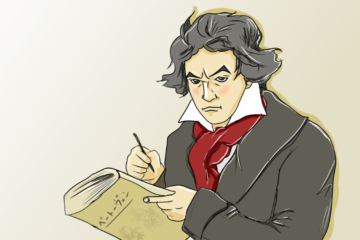 ベートーヴェンのイラスト