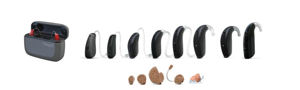 補聴器のラインナップ