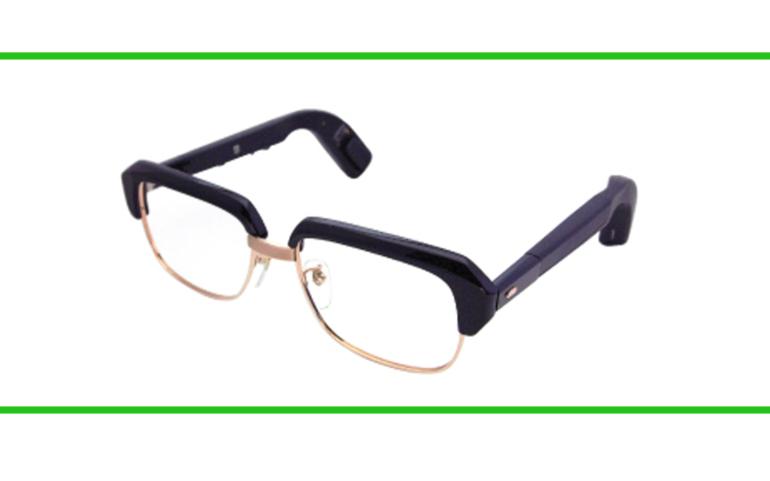 メガネ型骨導式補聴器